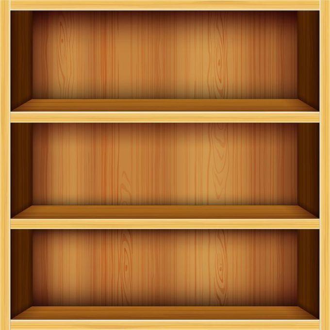 Bookshelf clipart display cabinet. Furniture glass shelf support