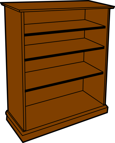 Bookshelf clipart furniture. Bookcase suggest clip art