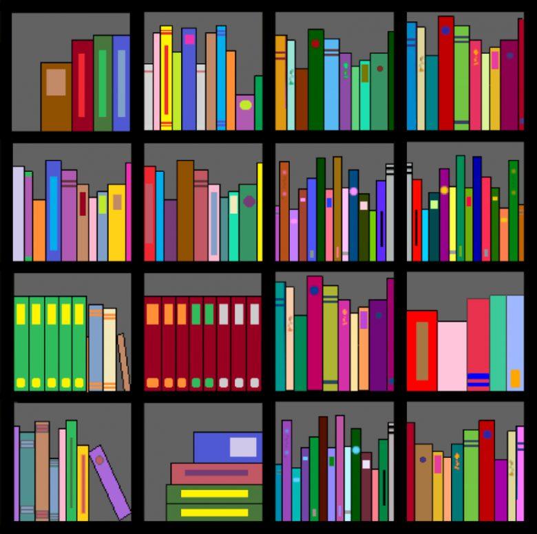 Art gallery best photo. Bookshelf clipart genre