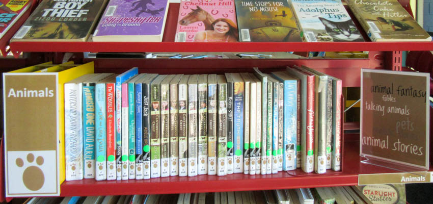 Bookshelf clipart genre. Arranging library fiction by