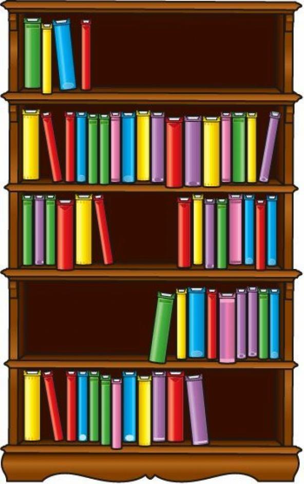 Book shelf clip art. Bookshelf clipart genre