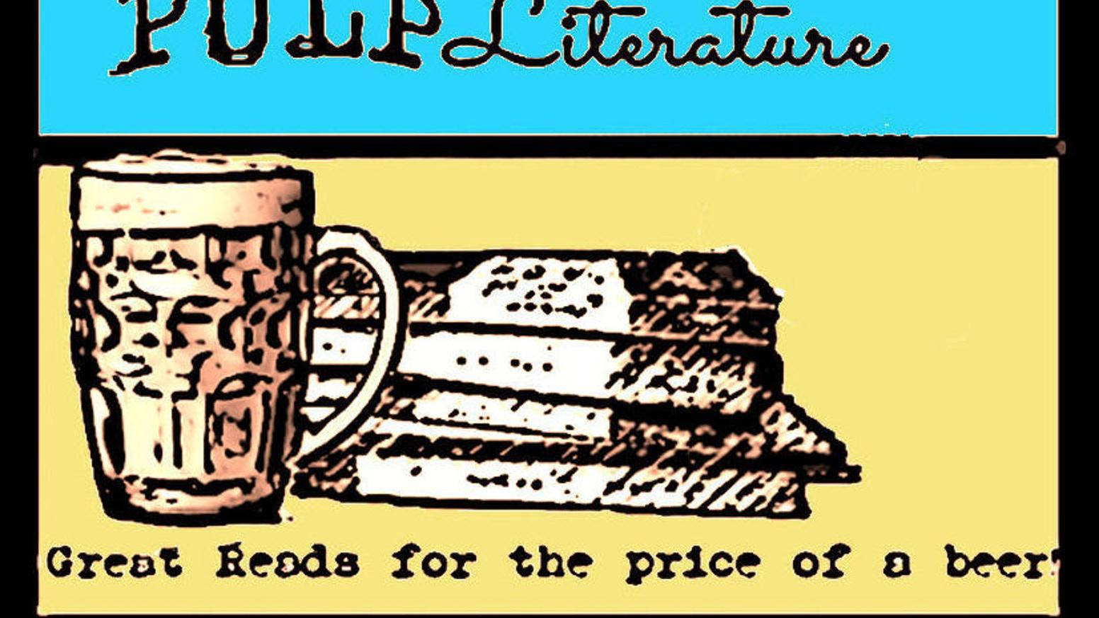 Bookshelf clipart genre. Pulp literature magazine by