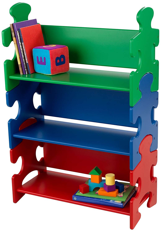 Amazon Com Kidkraft Puzzle Book Shelf Primary Kids Illustrators Books