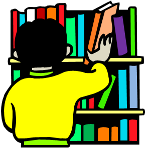 Library bookshelf clipart free clipart images - Clipartix