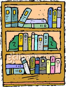 Bookshelf clipart long. Cilpart