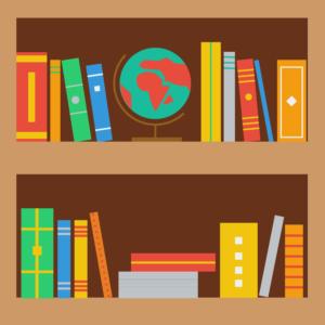 Bookshelf clipart neat.  free book images