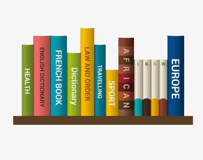 Books on a book. Bookshelf clipart neat