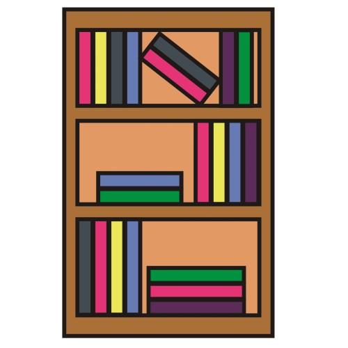 Bookshelf clipart neat. Sitez co