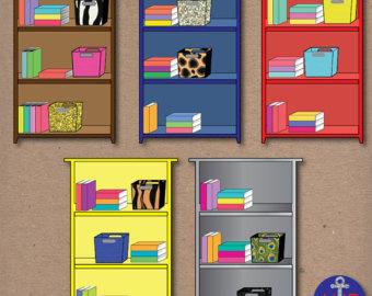 And organized clip art. Bookshelf clipart neat