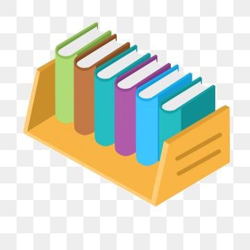 Book png vector psd. Bookshelf clipart neat
