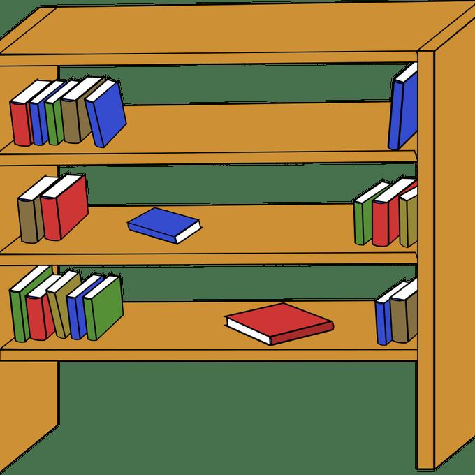 Shelf suggest shelves clip. Organized clipart organized book