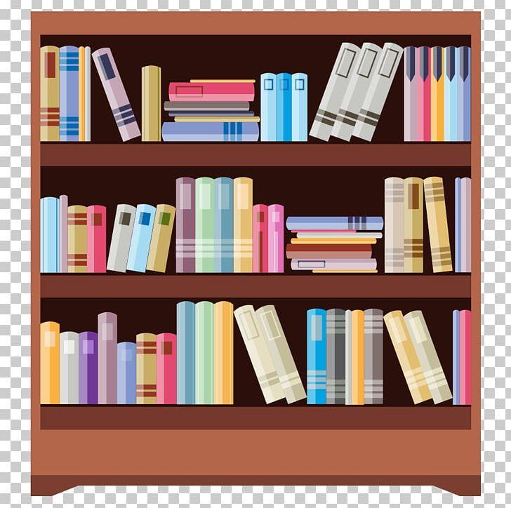 Organized Bookshelf Cartoon