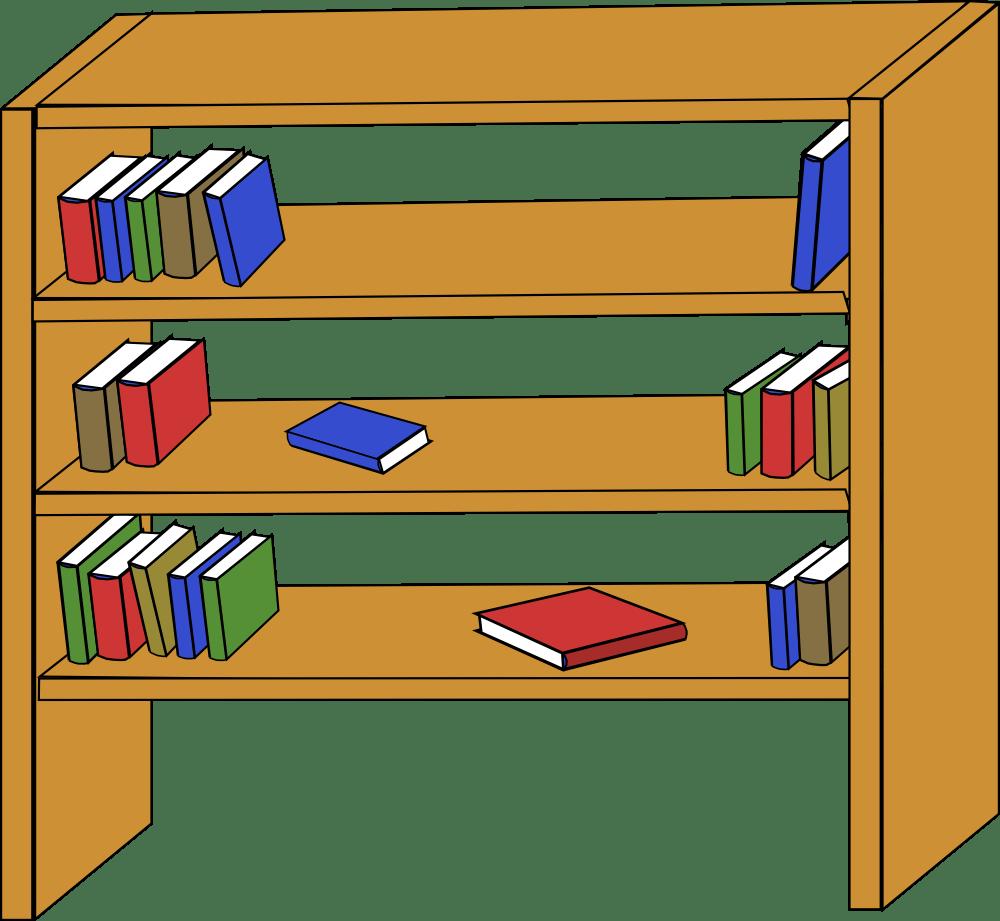 Foods clipart cupboard. Books on shelf panda