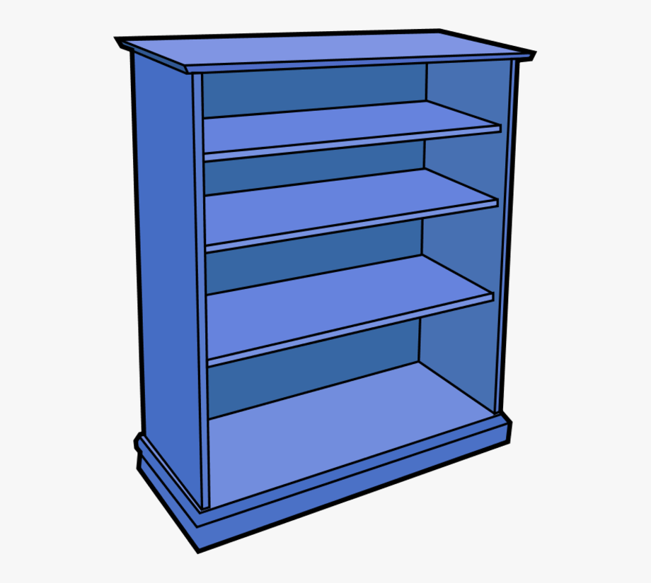 Bookshelf clipart shelving. Free cliparts empty shelf