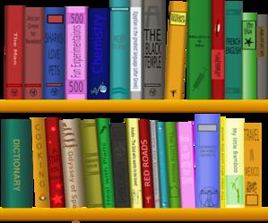 Books on shelf clip. Bookshelf clipart shelving