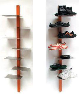 Bookshelf shoe rack