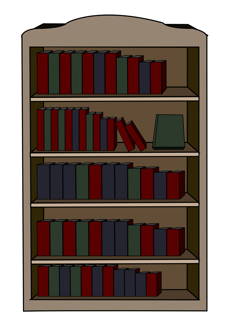 Bookshelf clipart simple.  collection of free