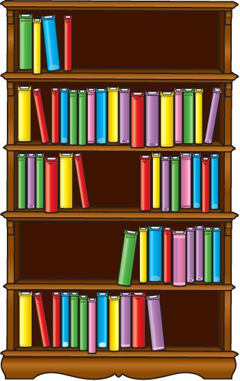 Bookshelf clipart simple. Sitez co