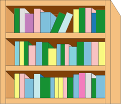 bookcase clipartlook. Bookshelf clipart simple