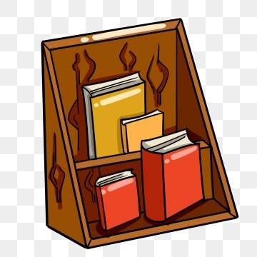Png vector psd and. Bookshelf clipart simple