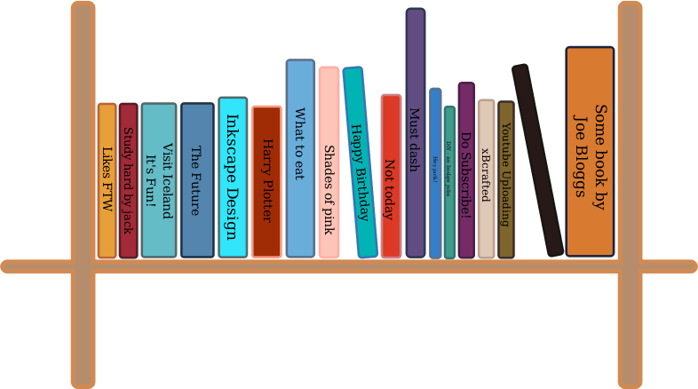 Free clip art book. Bookshelf clipart simple