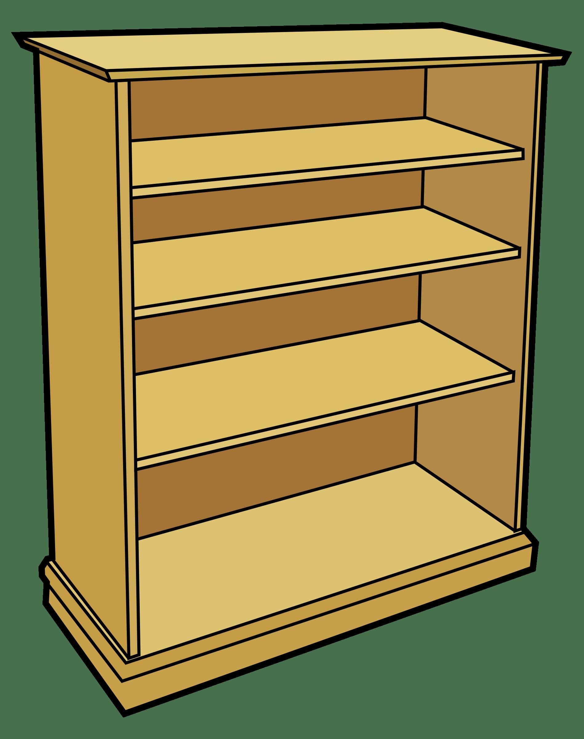 Bookshelf clipart transparent. Bookcase wooden furniture pencil