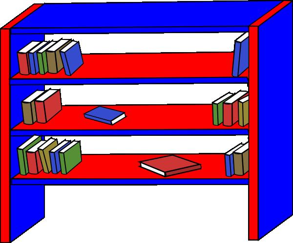 Clip art at clker. Bookshelf clipart transparent