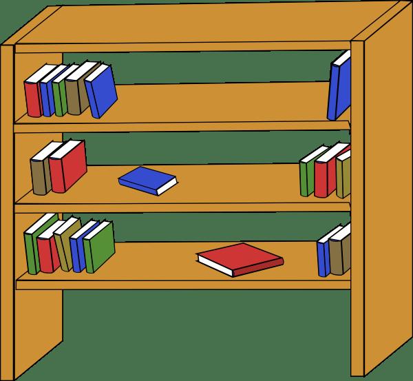 Bookshelf panda free images. Furniture clipart empty library