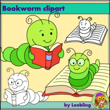 Free . Bookworm clipart