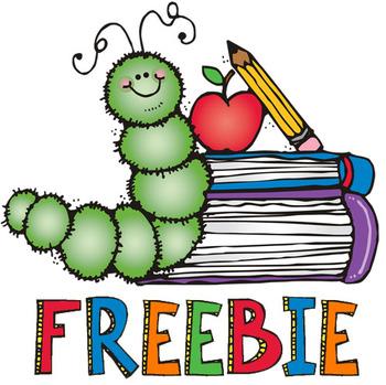 Literacy clipart bookworm. Clip art freebie