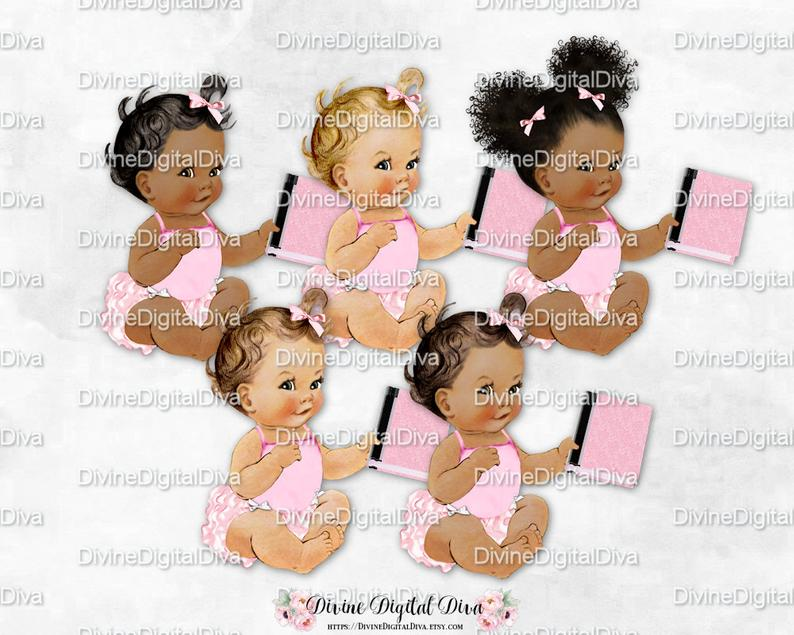 Pink book ruffle pants. Bookworm clipart baby