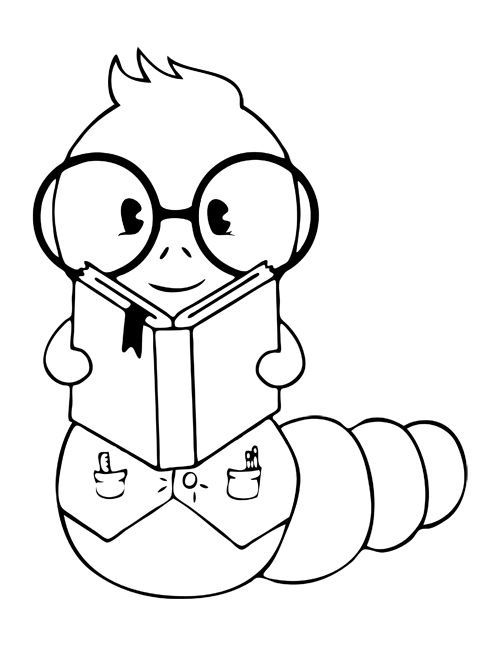 Bookworm clipart black and white. Amazing of letter master