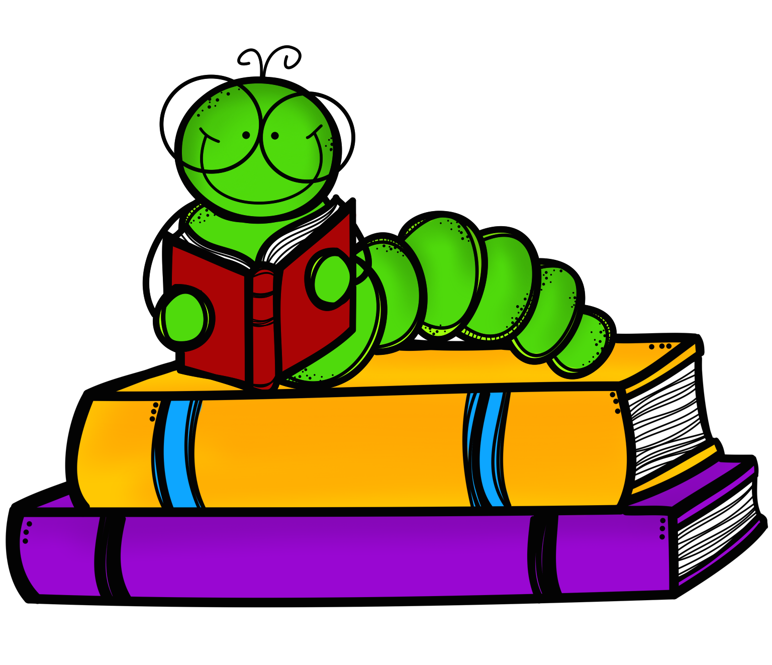 Bookworm clipart bookwork. Stack of books and