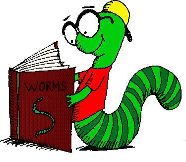 Bookworm clipart border. Image of free clipartoons