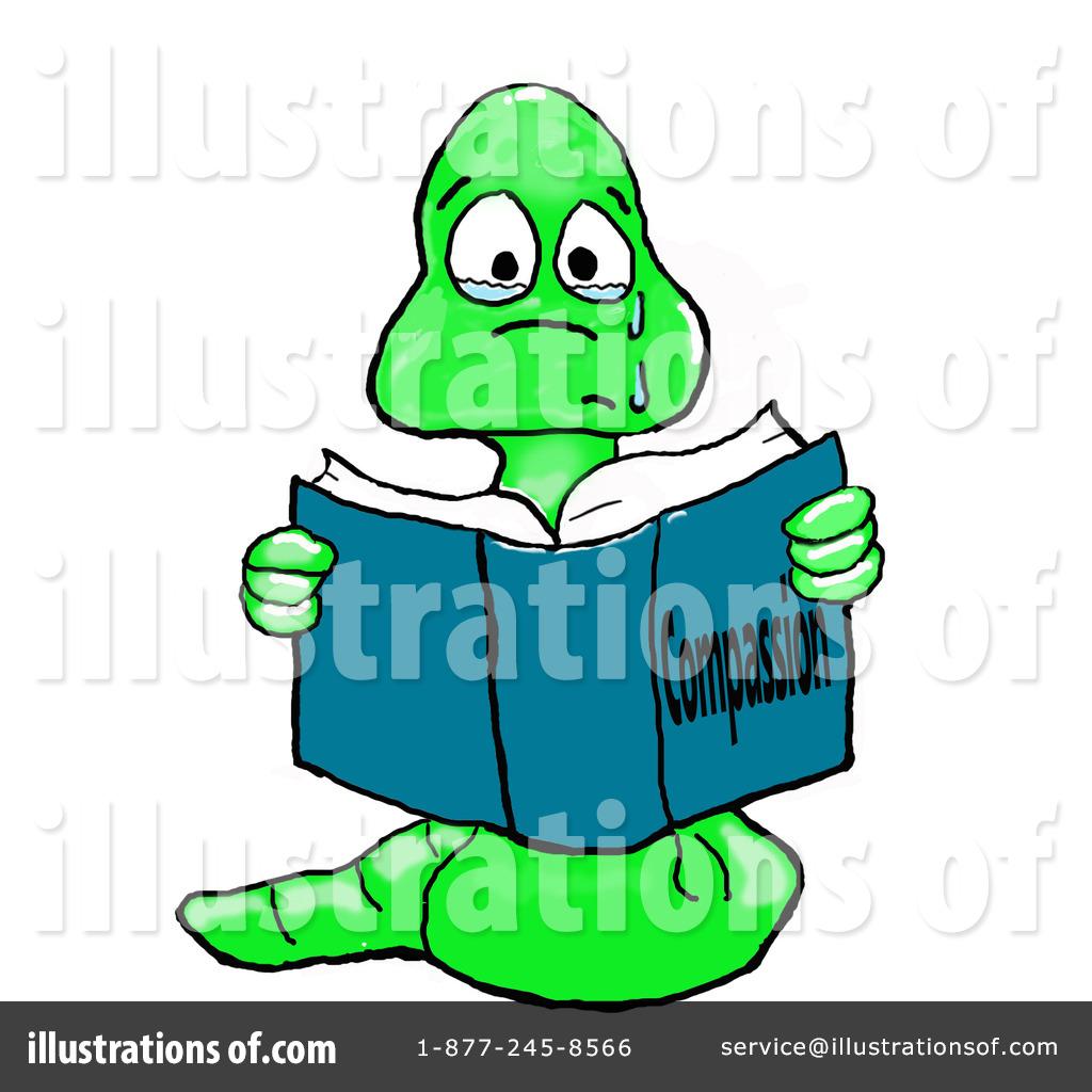 Bookworm clipart clip art. Illustration by spanky royaltyfree
