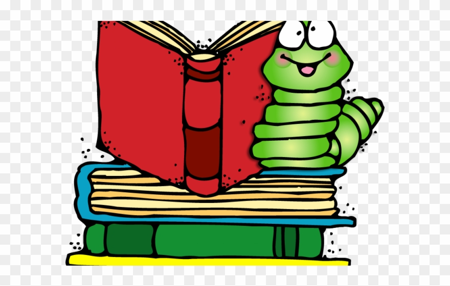 Bookworm png download . Worm clipart book