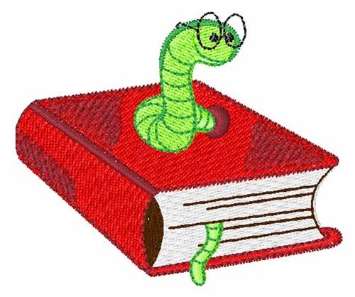 Designs machine at design. Bookworm clipart embroidery