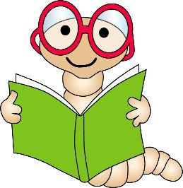 Cliparts with bow. Worm clipart bookworm