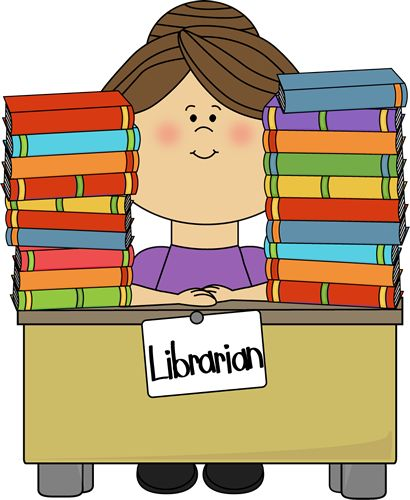 best school clip. Librarian clipart community helper