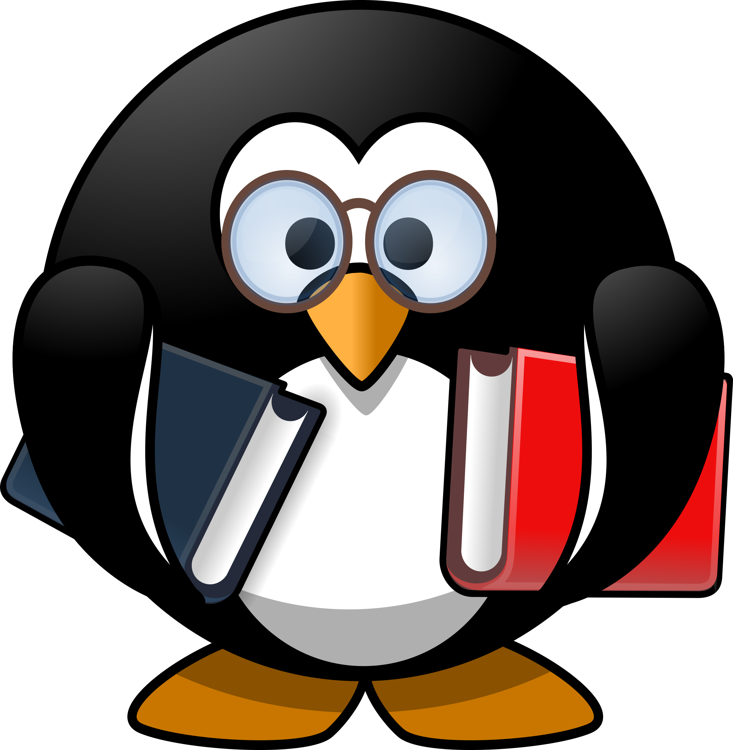 Worm clipart small worm. Bookworm penguin big image