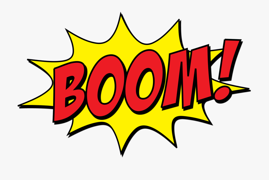 Explosion clipart boom. Transparent cartoon