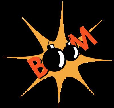 Boom clipart. Clip art text panda