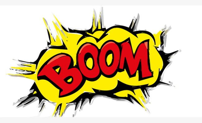 Boom clipart. Pattern png detonated
