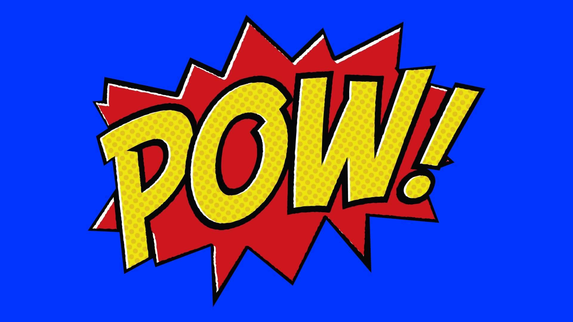 Boom clipart animated. Comic book pow green