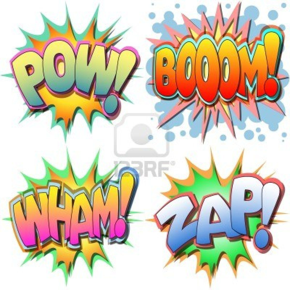 Boom clipart animated. A selection of comic