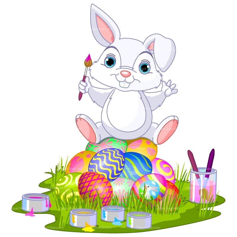 Easter bunny th of. Boom clipart animated