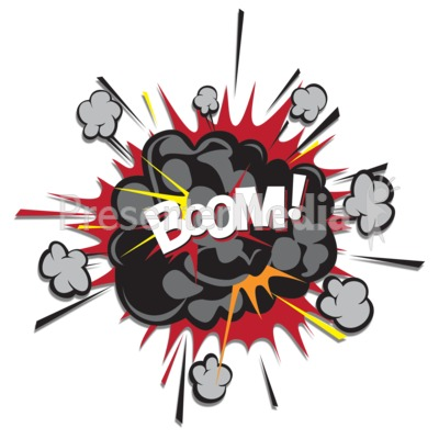 Animation for powerpoint puff. Explosion clipart boom