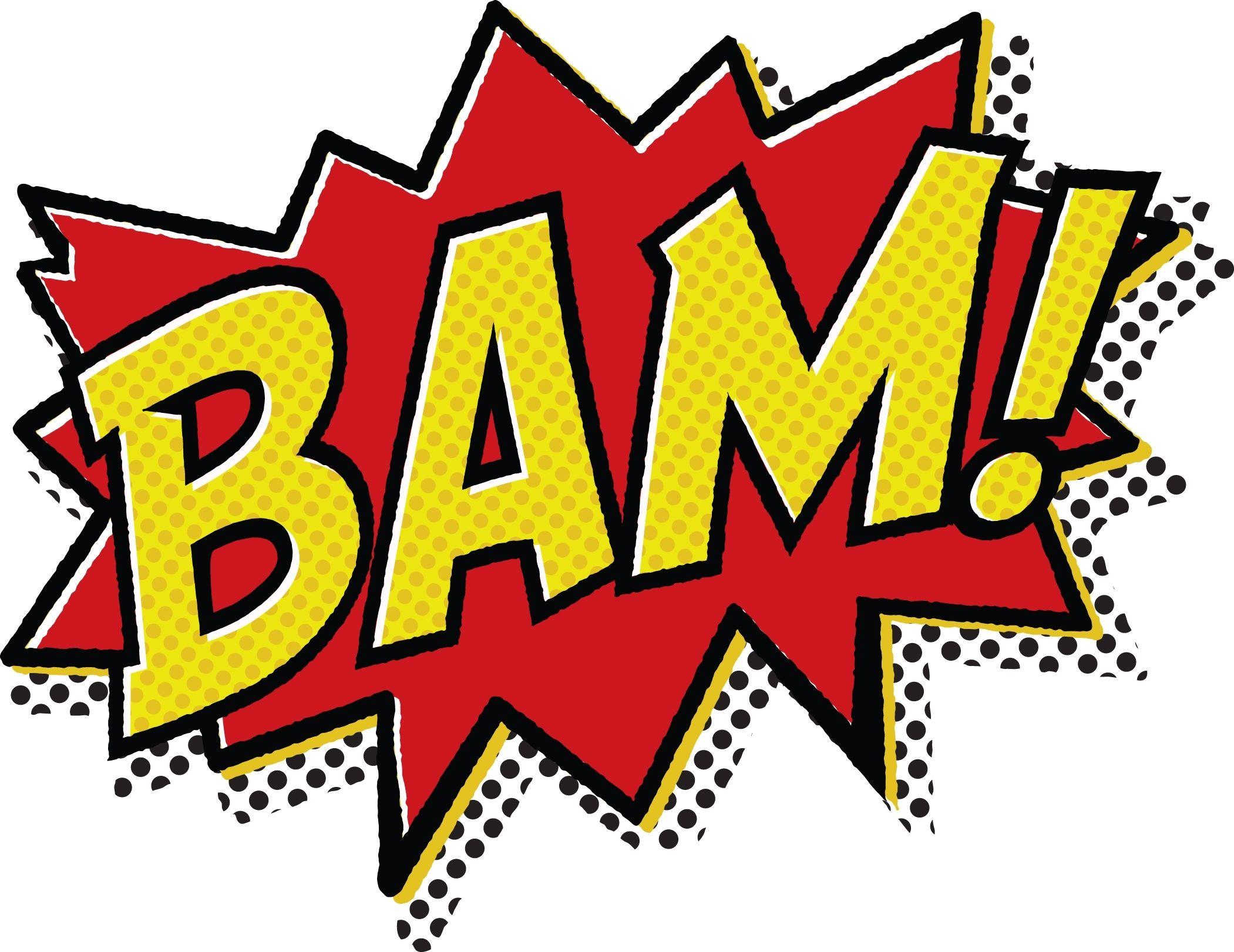 Boom clipart bam. Comic book pop art