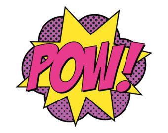 pow free cliparts. Boom clipart batman