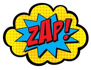 Framed print zap pop. Boom clipart batman